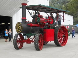 WAAAM loves driving 1910 Steam Tractor!