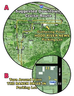 Here's a close up of the critical areas for the WAAAM Traffic Jam 2013 cruise route.